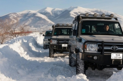 Winter tour on the wings of Aragats mount